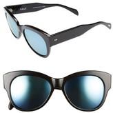 Salt Women's Hammen 54Mm Polarized Cat Eye Sunglasses - Black/ Blue Mirror