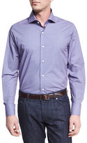Neiman Marcus Geometric-Print Sport Shirt, Navy