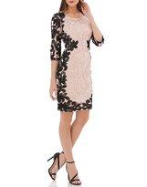 JS Collections Two-Toned Soutache Sheath Dress