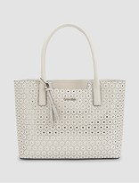 Calvin Klein Saffiano Leather Perforated Tote