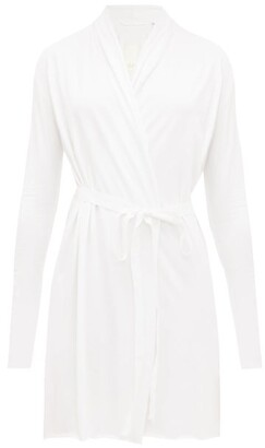 Skin Wraparound Cotton-jersey Robe - White