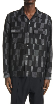 Needles C.O.B. Classic Geo Wool Blend Shirt