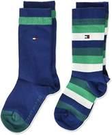Tommy Hilfiger Boy's TH Kids Basic Stripe 2P Calf Socks,pack of 2