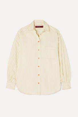 Sies Marjan Emanuela Striped Cotton-blend Shirt - Ivory