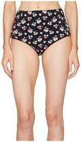 Stella McCartney Grungy Flower High Waist Bikini Bottom Women's Swimwear