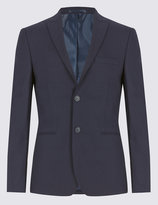 Marks And Spencer Navy Modern Slim Fit Suit Including Waistcoat