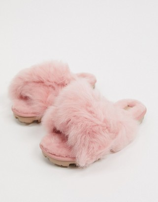 UGG Fuzzalicious slippers in LA sunset