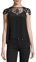 Nightcap Clothing Chantilly Lace-Yoke Georgette Blouse