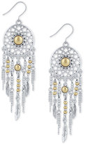 Lucky Brand Two-Tone Dream Catcher Chandelier Earrings