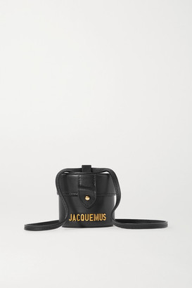 Jacquemus Le Vanity Mini Leather Shoulder Bag - Black