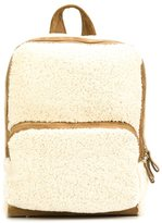 Pierre Hardy zipped fur backpack - women - Calf Leather/Sheep Skin/Shearling - One Size
