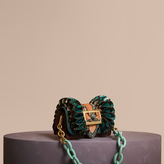 Burberry The Ruffle Buckle Bag in Snakeskin and Velvet