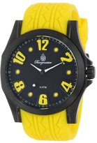 Burgmeister Men's Quartz Watch with Black Dial Analogue Display and Yellow Silicone Strap BM606-620A