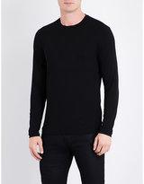 Armani Collezioni Crewneck Long-sleeved Jersey Top