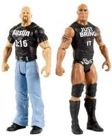 WWE Tough Talkers Stone Cold Steve Austin and the Rock Figure 2-Pack