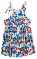 Milly Minis Hibiscus-Print Tank Dress, Size 4-7