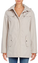 Weatherproof Quilt Accented Hooded Jacket