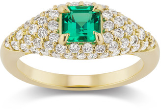 Muzo Emerald Colombia Michelle Fantaci X Muzo Square Emerald & Diamond Ring