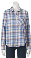Mudd Juniors' Button-Front Plaid Shirt