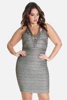 Fashion to Figure Jezra Metallic Bandage Bodycon Dress