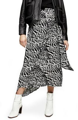 Topshop Animal Print Maternity Sarong Skirt