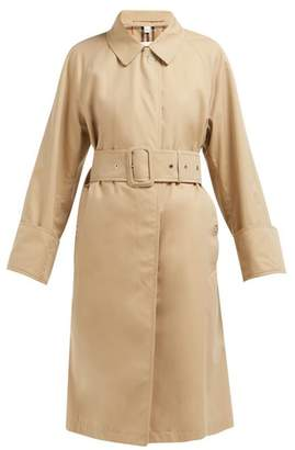 Burberry Single-breasted Cotton-gabardine Trench Coat - Womens - Beige
