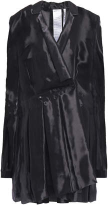 Helmut Lang Wrap-effect Organza Mini Dress