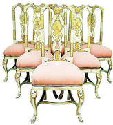 One Kings Lane Vintage Queen Anne-Style Dining Chairs