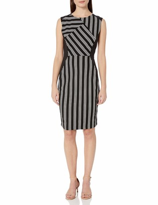 Lark & Ro Amazon Brand Women's Sleeveless Fit and Flare Textured Dress with Pockets