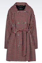 Emporio Armani Double-Breasted Coat In Jacquard