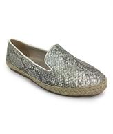 C Label Gray Rome Snake-Print Loafer