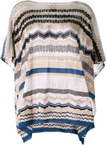M Missoni knitted poncho top - women - Cotton/Polyester/Viscose - One Size