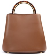 Marni Pannier Bag In Brown Leather