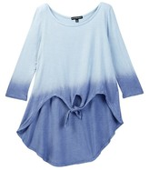 My Michelle mymichelle Ombre Tie Front Hi-Lo Top (Big Girls)