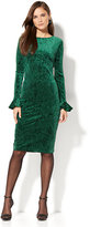 New York & Co. Textured Velvet Sheath Dress
