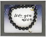Dee Berkley Celebrations Love You to the Moon Agate Bracelet (Black) Bracelet