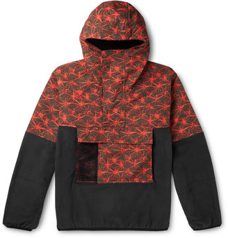 Nike Acg Nrg Printed Shell And Fleece Half-zip Jacket - Black