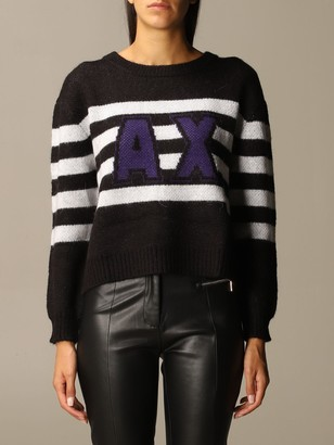 Armani Collezioni Armani Exchange Sweater Over Boxy Bands Logo Crewneck