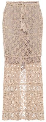 Anna Kosturova Bianca high-rise cotton maxi skirt