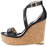 Jimmy Choo Portia Crisscross Platform Wedge Sandal