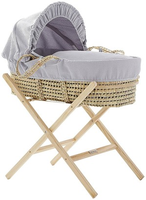 Clair De Lune Self-Assembly Folding Wooden Moses Basket Stand