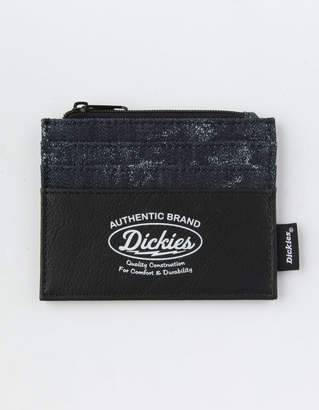 Dickies Zippered Black Card Holder Wallet