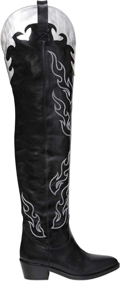 Chiara Ferragni 50mm Flamse Leather Over The Knee Boots