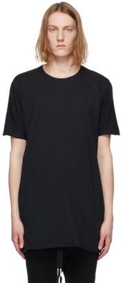 Boris Bidjan Saberi Black Object-Dyed T-Shirt