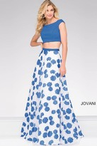 Jovani Cap sleeve Two Piece Prom Ballgown 47874