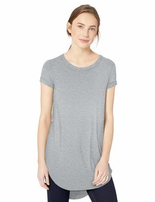 Daily Ritual Amazon Brand Women's Jersey Short-Sleeve Open Crewneck Tunic