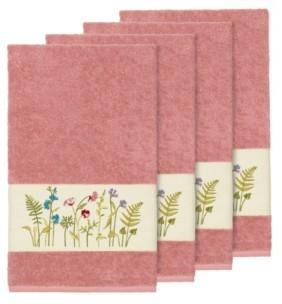 Linum Home Turkish Cotton Serenity 4-Pc. Embellished Bath Towel Set Bedding