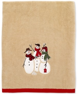 Avanti Snowman Gathering Bath Towel Bedding