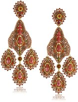 Miguel Ases Large Carnelian Chandelier Earrings