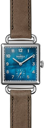 Shinola Women's Cass Wrap Leather Strap Watch, 28mm